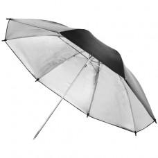 Studijski odbojni dežnik, srebrn 84 cm