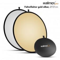Odbojnik, odsevnik Walimex Foldable Reflector, zlat/srebrn, 107cm