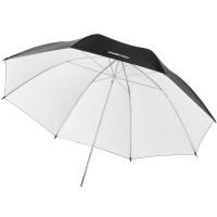 Studijski odbojni dežnik Walimex pro Reflex - bel/črn, 109 cm
