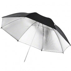 Studijski odbojni dežnik Walimex pro Reflex, črn,srebrn 109 cm