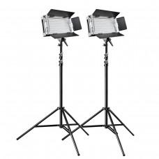 LED luči walimex pro On Location Lightning Set Pro 500