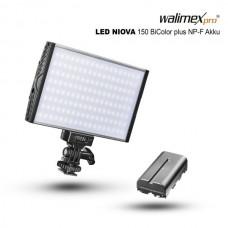 LED luč Walimex pro LED Niova 150 BiColor + NP-F baterija