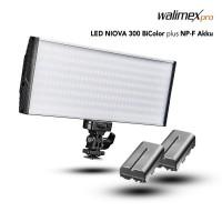 LED luč Walimex pro LED Niova 300 BiColor + 2x NP-F baterija